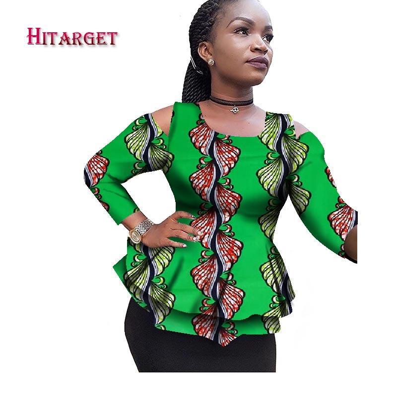 ca99b9a0722 2019 2017 New Dashiki African Women Clothing Bazin Riche 2017 Fashion  Elegant O Neck Crop Top Shirts Ankara African Clothing WY2100 From Stripe