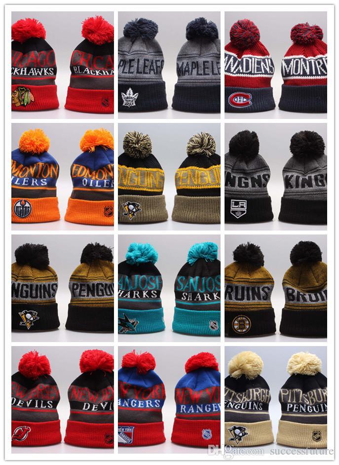 fc113140a37 Wholesale New Hockey Beanie Knitted Hats Sports Teams Baseball ...