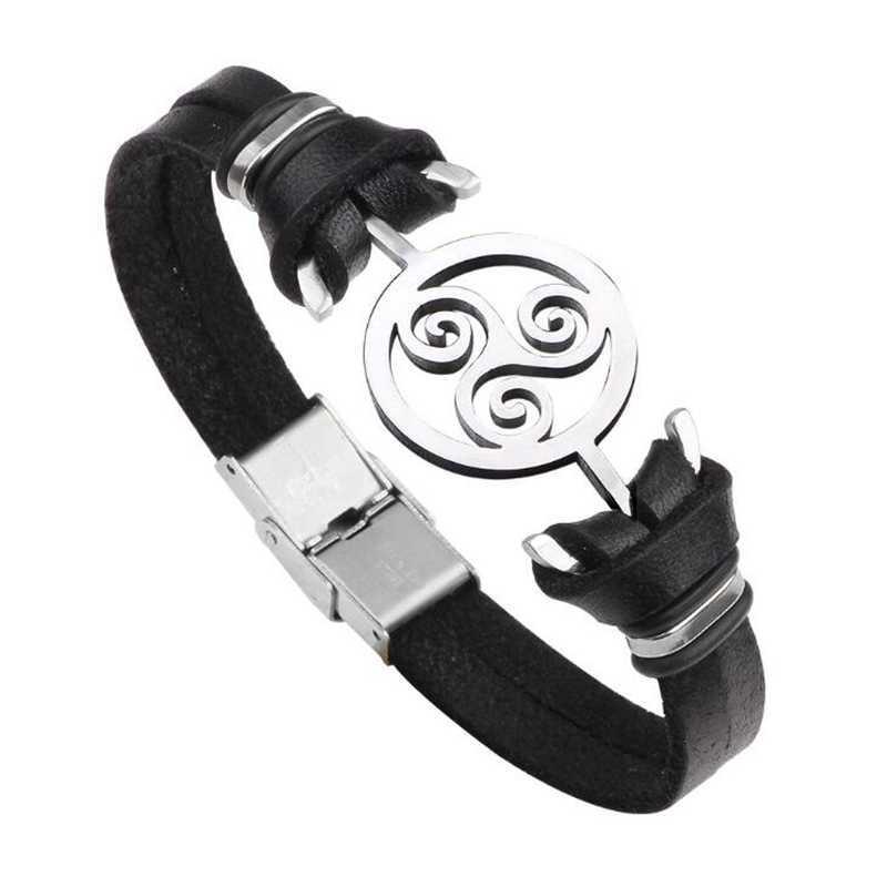 Teen Wolf Bracelet 2018 New Stainless Steel Cuff Leather Bracelets