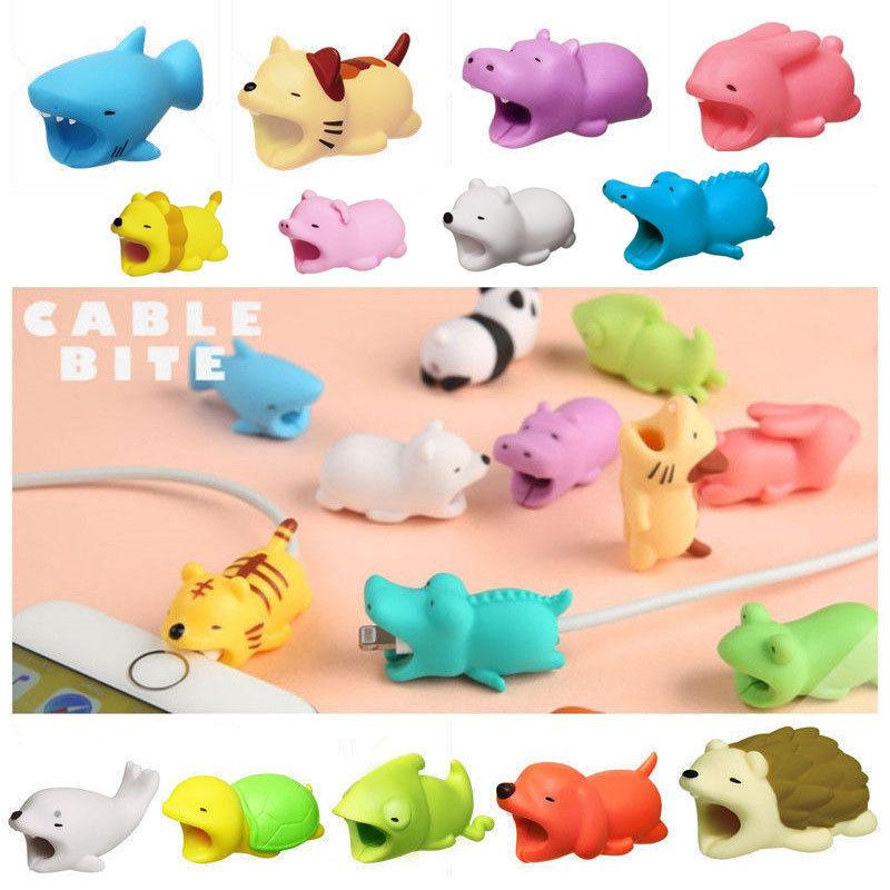 Cable Bite Charger Cable Protector Savor Cover for iPhone Lightning Animal Design Charging Cord Protector Outdoor Gadgets GGA597 50pcs