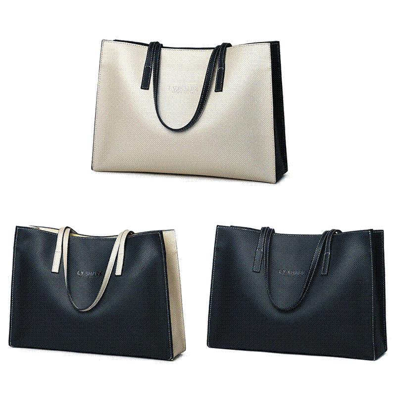 b8cc3b90e5f7 SHARK Брендовые натуральные кожаные сумки для дам Сумка для плеч Роскошные сумки  Женские сумки Дизайнер Bolsa Feminina Big Size Tote Bag