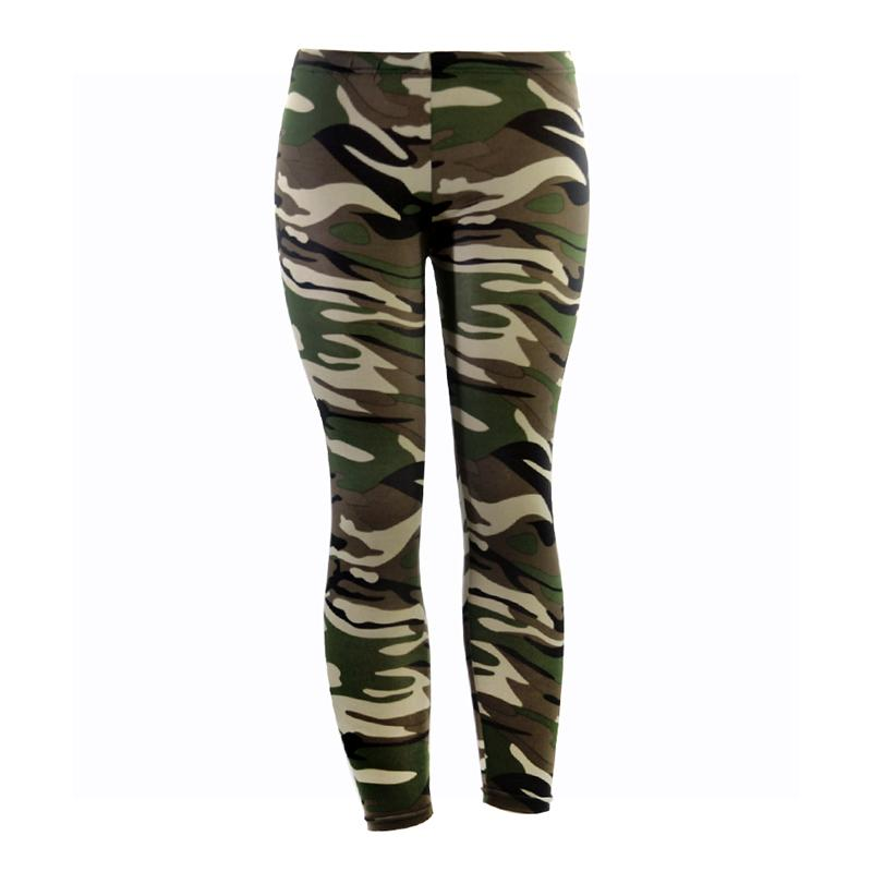 18f9d759d4 2019 Army Green Camouflage Printed Leggings For Women Slim Stretch Pencil Pants  High Waist Trousers High Elastic Summer Leggings From Duanhu, ...