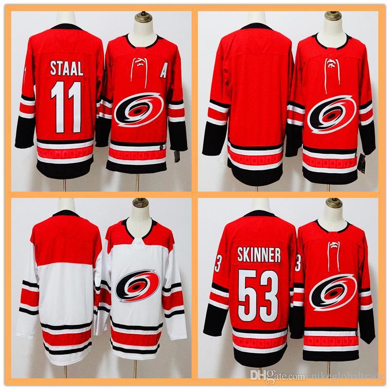928628eba amazon mens 2018 new style carolina hurricanes hockey jerseys red jersey  blank jersey 11 staal 53
