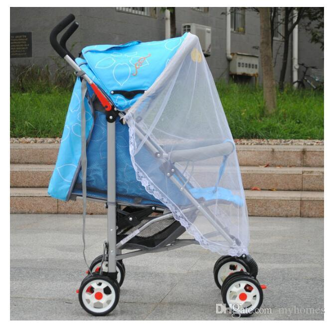 Hot Selling Baby Car Mosquito Mesh Dome Baby strollers Lace Mosquito Net Curtain Net for Toddler Crib Cot Canopy For Trolley