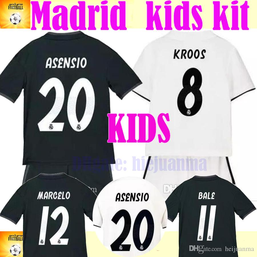 407a8ef6c 2019 2019 ASENSIO BALE REAL Kids Kit MADRID Soccer Jersey 18 19 Madrid Home  Away MODRIC KROOS ISCO BENZEMA Children Football Shirts From Heijuanma