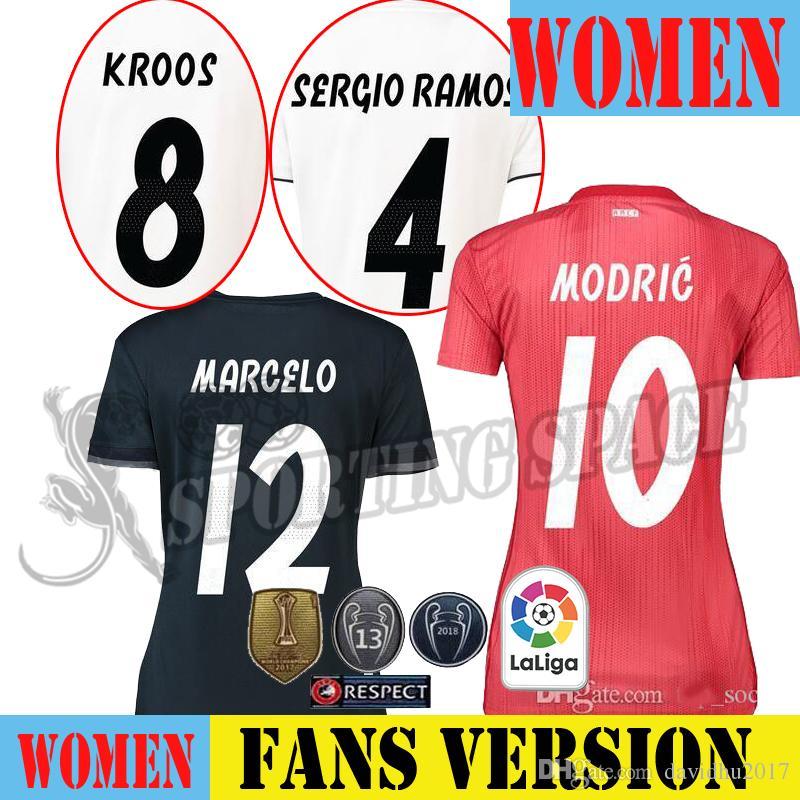 Mujer Real Madrid Rojo Tercera Camiseta De Fútbol 2018 Asensio SERGIO  MODRIC RAMOS MARCELO BALE ISCO Camiseta KROOS 18 19 Página De Inicio 2 Por  Davidhu2017 ... a8aac36ea5120