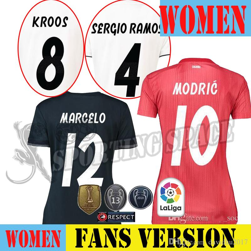 Mujer Real Madrid Rojo Tercera Camiseta De Fútbol 2018 Asensio SERGIO  MODRIC RAMOS MARCELO BALE ISCO Camiseta KROOS 18 19 Página De Inicio 2 Por  Davidhu2017 ... 5a4831a0e3851