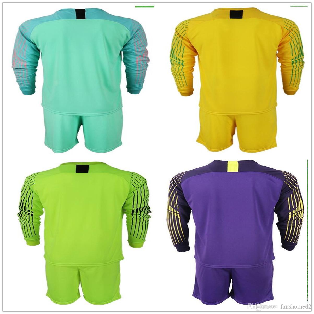 best authentic d3013 6de20 2018 2019 Adults Long Roma #1 Alisson Goalkeeper Jersey Soccer Sets  Romagnoli Lobont Skorupski Goalie Football Keeper Jerseys Kits Uniform