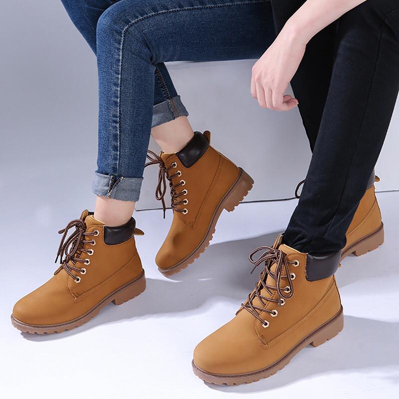 bf24c048ce Compre Zapatos De Invierno Botas De Mujer Botas Casuales Para Mujer Botines  De Punta Redonda PU Zapatos De Mujer 2018 Invierno Cálido Snow Short Boot A  ...