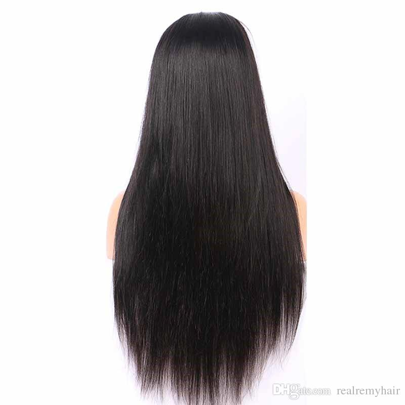 Brazilian Glueless Full Lace Human Hair Wigs For Black Women Cheap Brazilian Silky Straight Full Lace Wigs With Baby Hair Natural Hairline