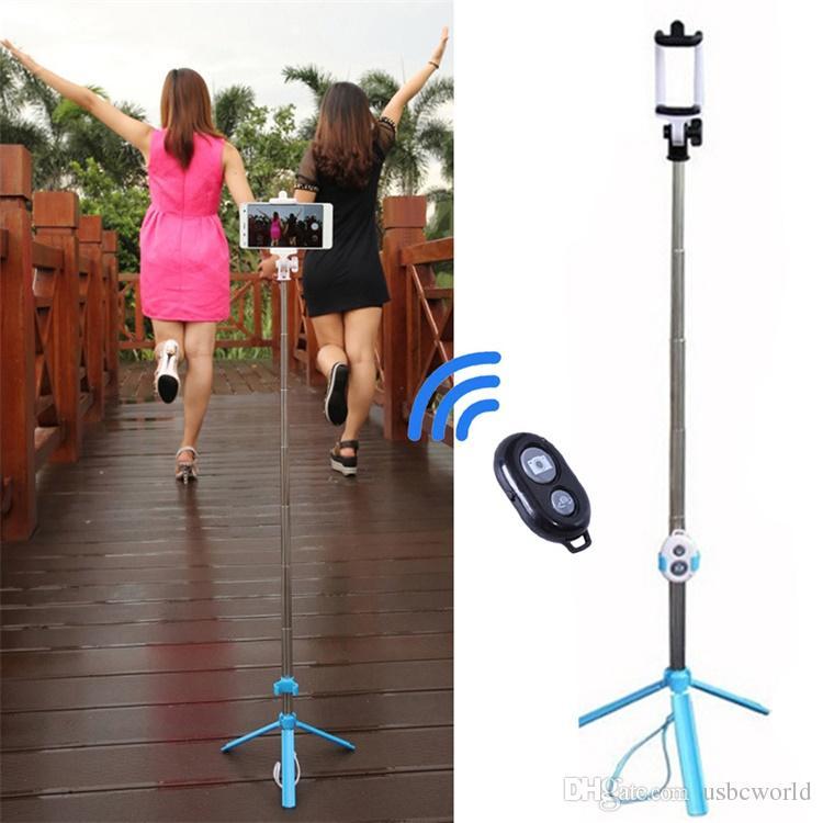 Landheld Tripod 2-in-1 تمديد Bluetooth Selfie Stick ل iPhone X 8 7 6 6S 6Plus Samsung Android الهاتف الذكي