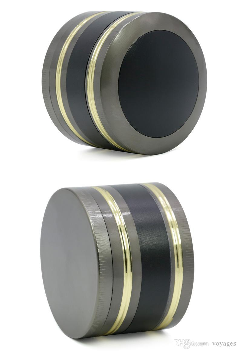 Herb Grinder metal Zinc Alloy 4 layer Dome cover double gold edge color grinder grinder 63mm diameter OEM LOGO