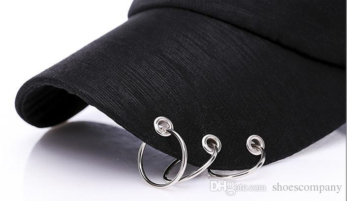Yeni snapback moda Demir halka erkekler kadınlar için boş şapkalar beyzbol kapaklar spor hip hop kap marka güneş şapka gorras toptan erkekler tasarımcı şapkalar