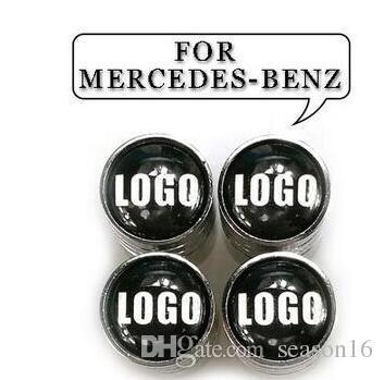 4 adet / grup Oto Araba Lastik Vana Benz için Emniyet Tekerlek Lastik Hava Vana Vana Caps Kök Kapak Mercedes-Benz BMW