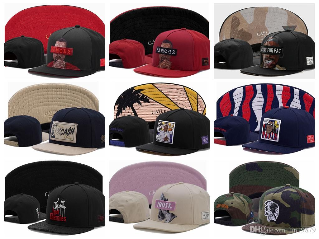 Cayler   Sons FAMOUS PRAY FOR PAC I Got Enemies Baseball Caps Hip Hop Flat  Brim Bones Gorra Sports Snapback Caps For Men Women Unisex Army Cap Cheap  Hats ... 7feb6c8ef7d