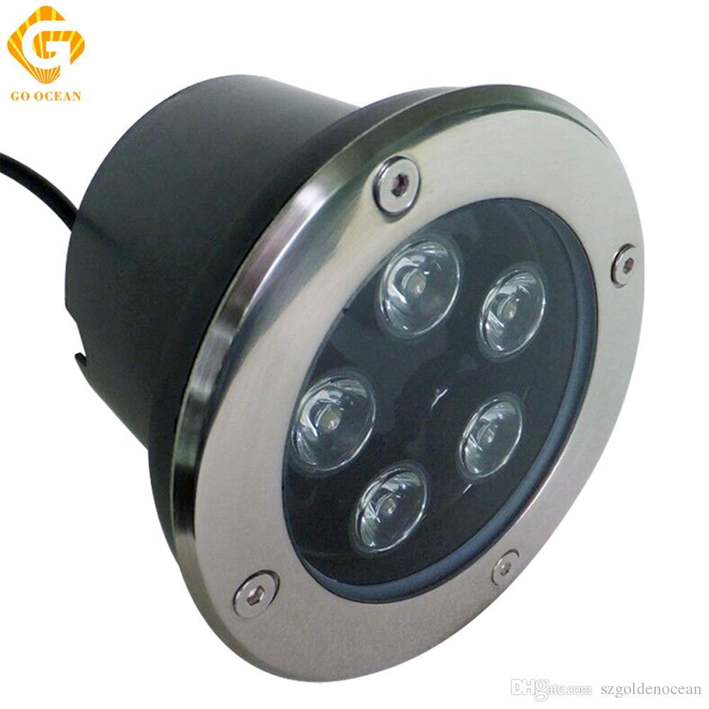 Светодиодные Подземные Лампы 5 Вт 12 В IP67 Утопленный Утопленный LED Открытый Наземный Сад Тропа Этаж Двор Лампа Ландшафтный Свет RGB Инженерные Огни