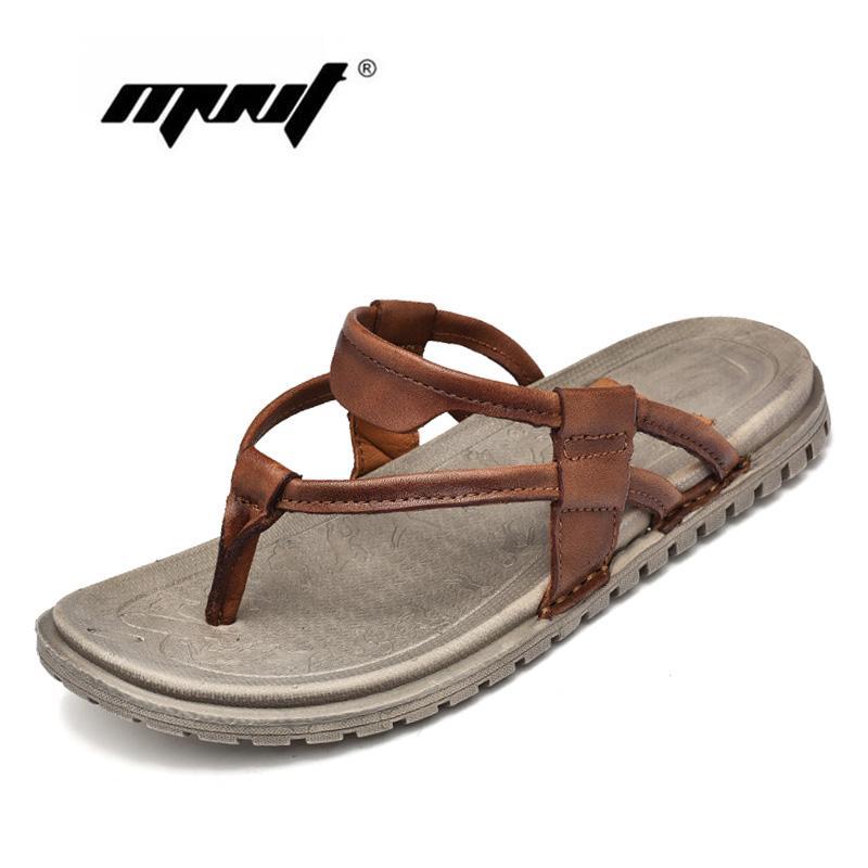 a419cefd3c Pantofole infradito uomo in pelle stile retrò maschile infradito per uomo  sandali da spiaggia antiscivolo scarpe zapatos da uomo