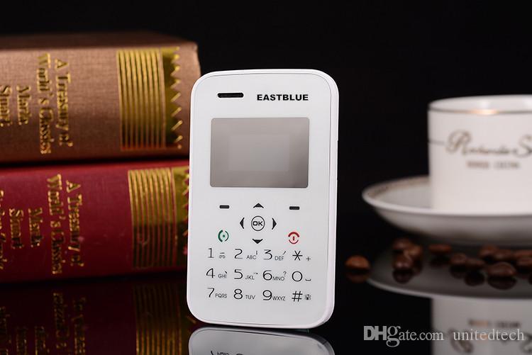 Precio de fábrica Barato Original Eastblue M8 tarjeta Mini desbloqueado GSM Móvil Teléfono Bajo Radiación FM Radio Bluetooth tarjeta de crédito celular teléfono móvil