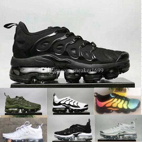 best seller cheap online Vapormax TN Plus Running Shoes 2018 Men Casual Triple Black Olive Metallic White Silver Sport Athletic Shoes Hiking Jogging Sneakers 40-45 big discount online deals for sale clearance for sale WeDa11F