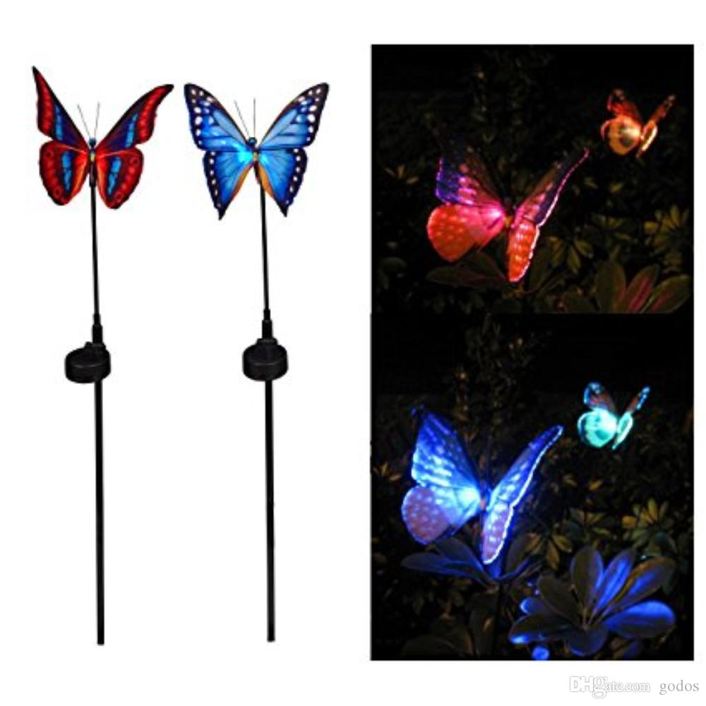 Merveilleux 2018 Garden Solar Lights Outdoor Garden Stake Lights Multi Color Changing  Led Fiber Optic Butterfly Garden Solar Lights With Purple Led Light From  Godos, ...