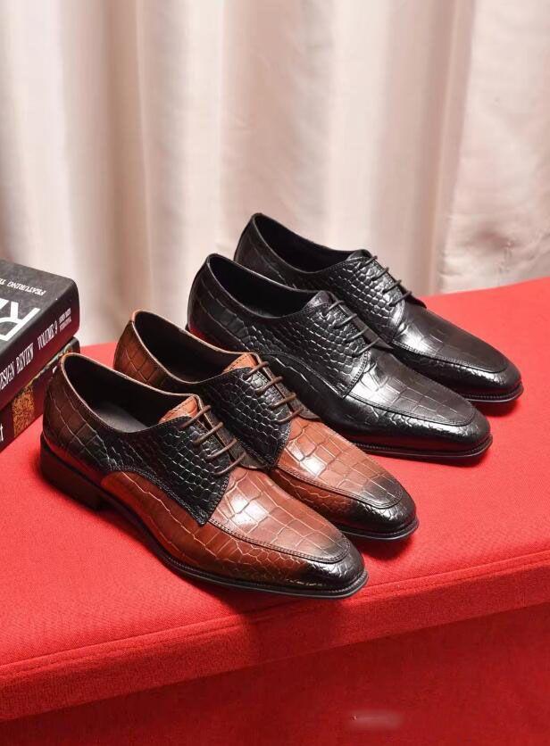 Anzug Herren Schuhe Formalen Mens Kleid Schuhe Aus Echtem Leder Luxus Italienischen Marke Kleid Schuhe Männer Klassische Coiffeur Chaussure Homme Schuhe Herrenschuhe