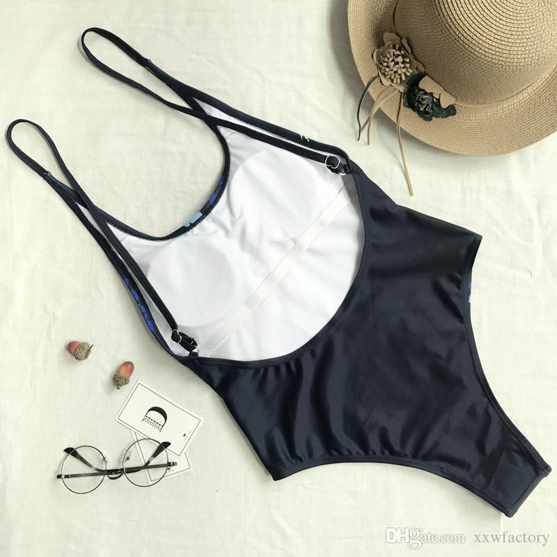 Toldder femmes impression bikini maillot de bain maillot de bain Bandage One Piece maillot de bain bikini