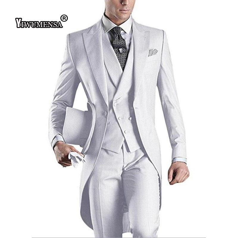 Acheter Y530 Costume Mariage Homme Hommes Tailedo Tailcoat Costume En Gris 53b321b5b46