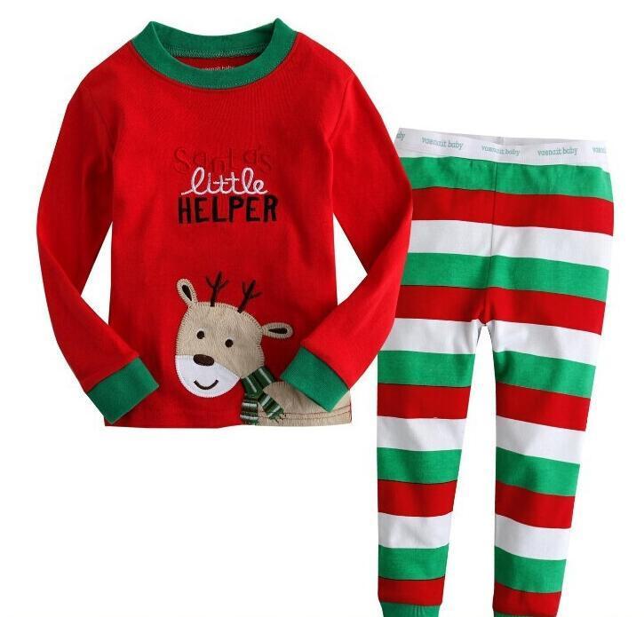 91a0959572eb 2019 Wholesale New Fashion Christmas Pyjamas Boy Girl Sleepwear Nightwear  Kids Pjs Kids Childrens Pyjamas Santa Claus Deer Printing From  Toystoryworld