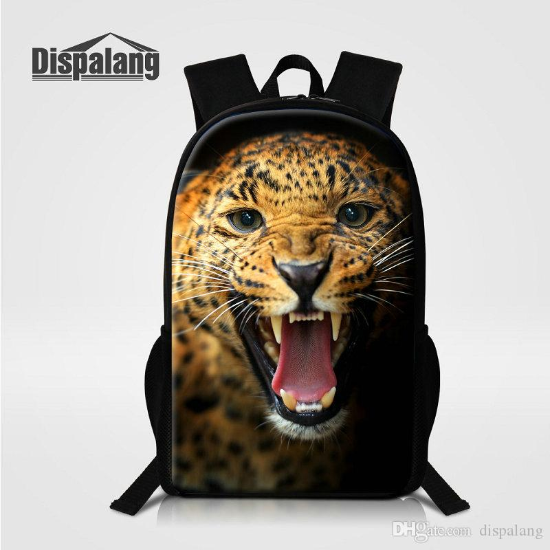 8367328f385c Leopard Backpack For Boys Animal Pattern Schoolbag For Children ...