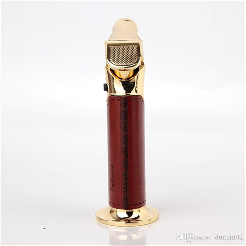 Windproof Cigar Lighter Jet flame Torch Refillable Butane Gas Torch Soldering Brazing Welding torch BBQ Camping tooL DHL FREE