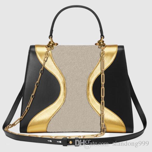 72917fdaf9c1 2018 New Style Designer Handbags High Quality Leather + Canvas Fashion Womens  Handbag Size 30CM Genuine Leather Bag Ladies Totes Leather Bags Shoulder  Bags ...