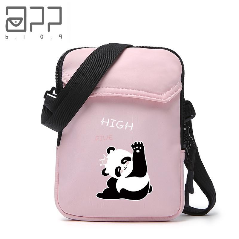 05fa200c71da APP BLOG Brand Cute Cartoon Panda Small Shoulder Bag Crossbody Bag For Girl  Teenager Boy Kid Leisure Messenger Bags Handbag 2018 Pink Handbags Leather  ...