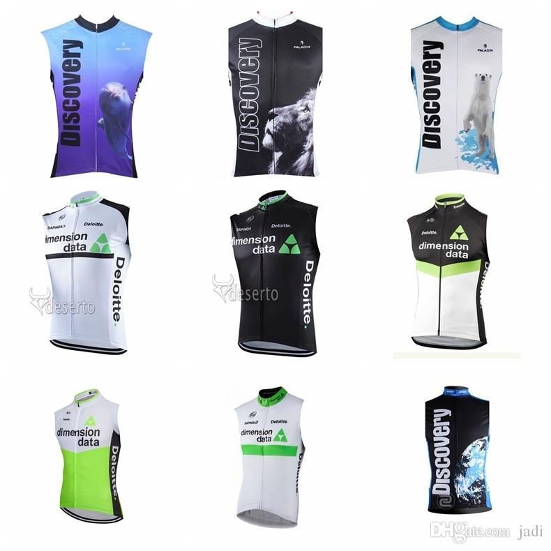 bcc3c8ba1 2018 DIMENSION DATA DISCOVERY Team Cycling Sleeveless Jersey Vest Racing Bike  Cycling Clothing Breathable Bicycle Cycling K90528 Cycling Vest Popular T  ...