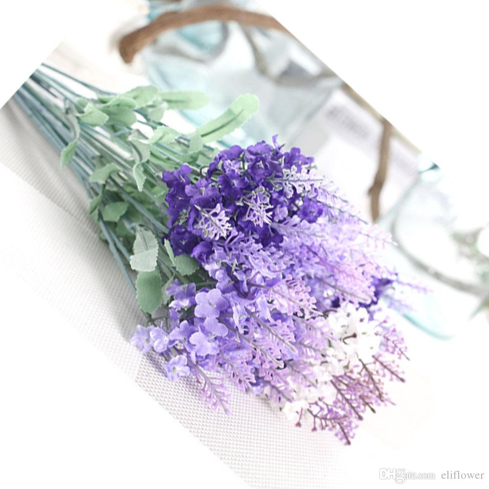 2018 Artificial Flowers Lavender Simulation Fake Silk Flowers For