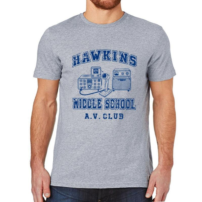 Großhandel Hawkins Middle School Av Club Erwachsene Unisex T Shirt