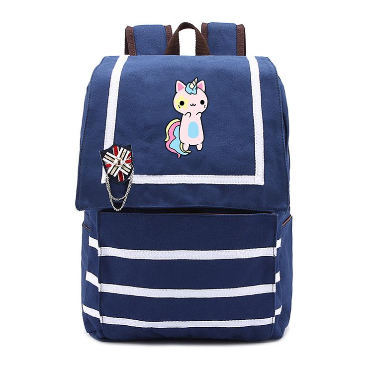 a811045b55 2018 Cute Cat Unicorn Popular Backpack Cosplay Canvas Women Shoulder Bag  Luminous Men Schoolbag Travel Bags Backpacks For Girls Messenger Bags For  Men From ...