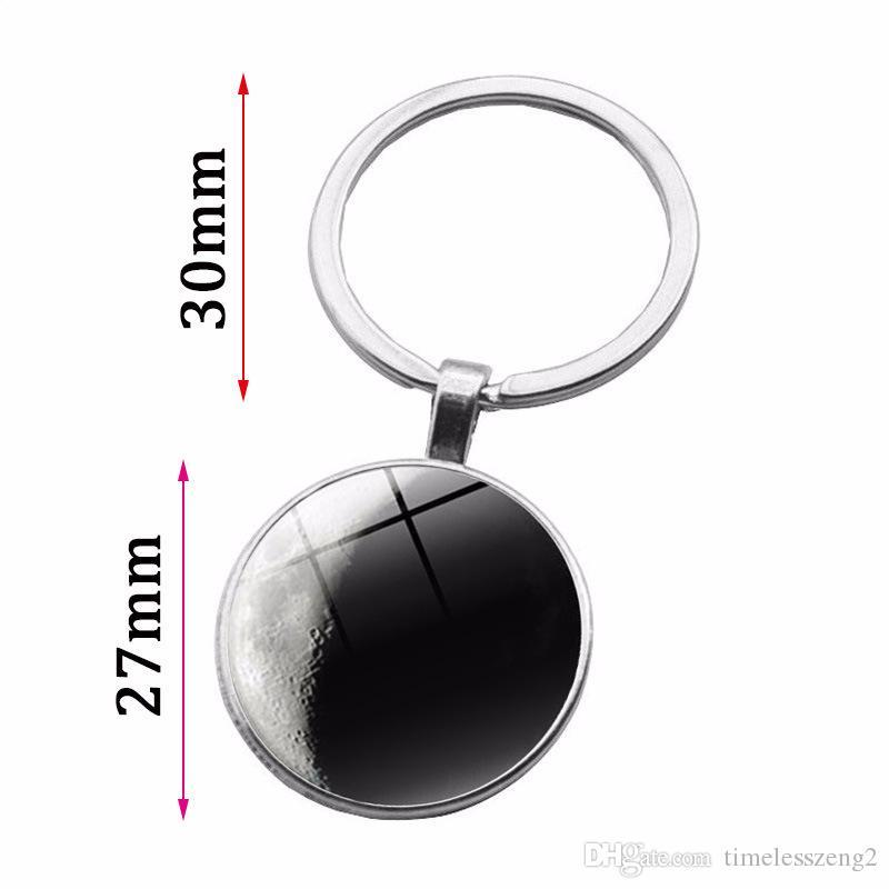 Звездный узор Time Gem Кабошон брелок Черный и белый цвет серии планета брелок Индивидуальные маленькие подарки