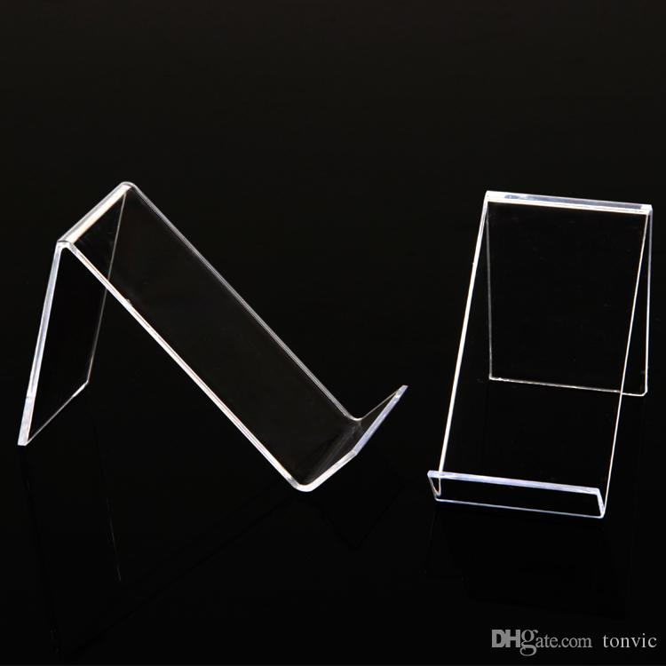 Tonvic Groothandel 20 Clear View Plastic Mob Mobiele Telefoon Display Toon standhouder AF-416
