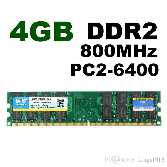 Brand New 4GB DDR2 800Mhz Single PC2 6400 DIMM 240Pin For AMD Chipset  Motherboard Desktop Memory RAM Hight Quality