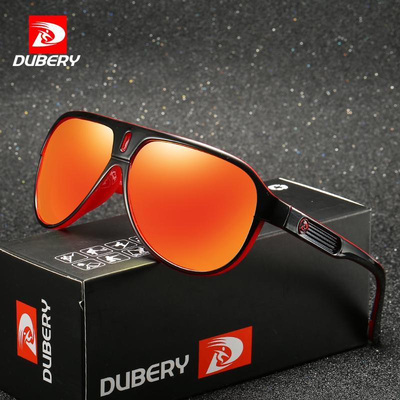 6b33a67731863 Compre Dubery Marca De Design Polarizada Óculos De Sol Dos Homens De Condução  Tons Masculinos Retro Óculos De Sol Para Homens Espelho De Verão Goggle  Uv400 ...