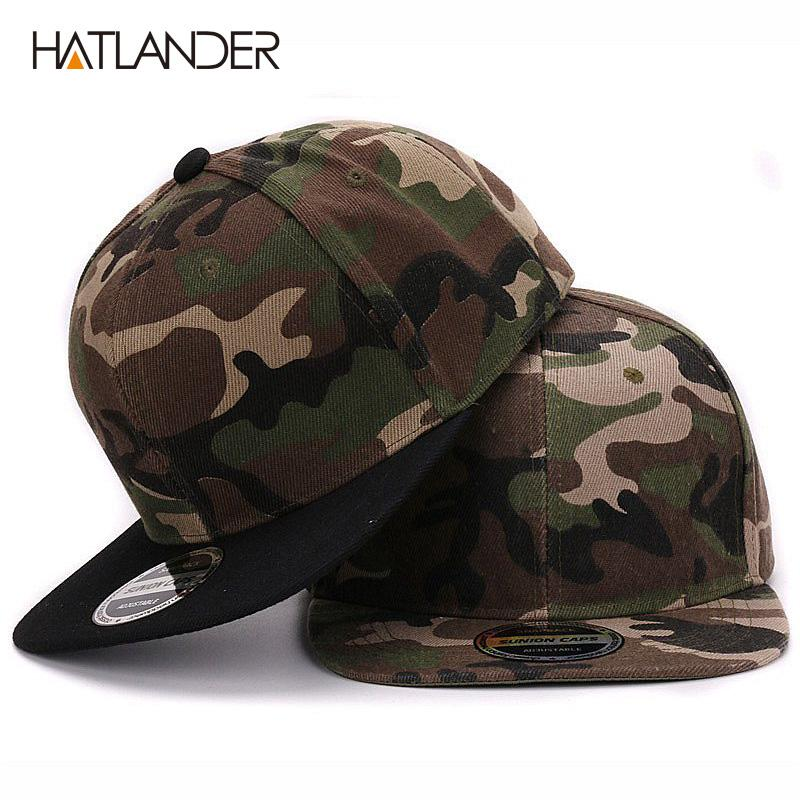 aebe4f5e85d HATLANDER Camouflage Snapback Polyester Cap Blank Flat Camo Baseball Cap  with No Embroidery Mens Cap And Hat for Men And Women Camouflage Snapback  Polyester ...