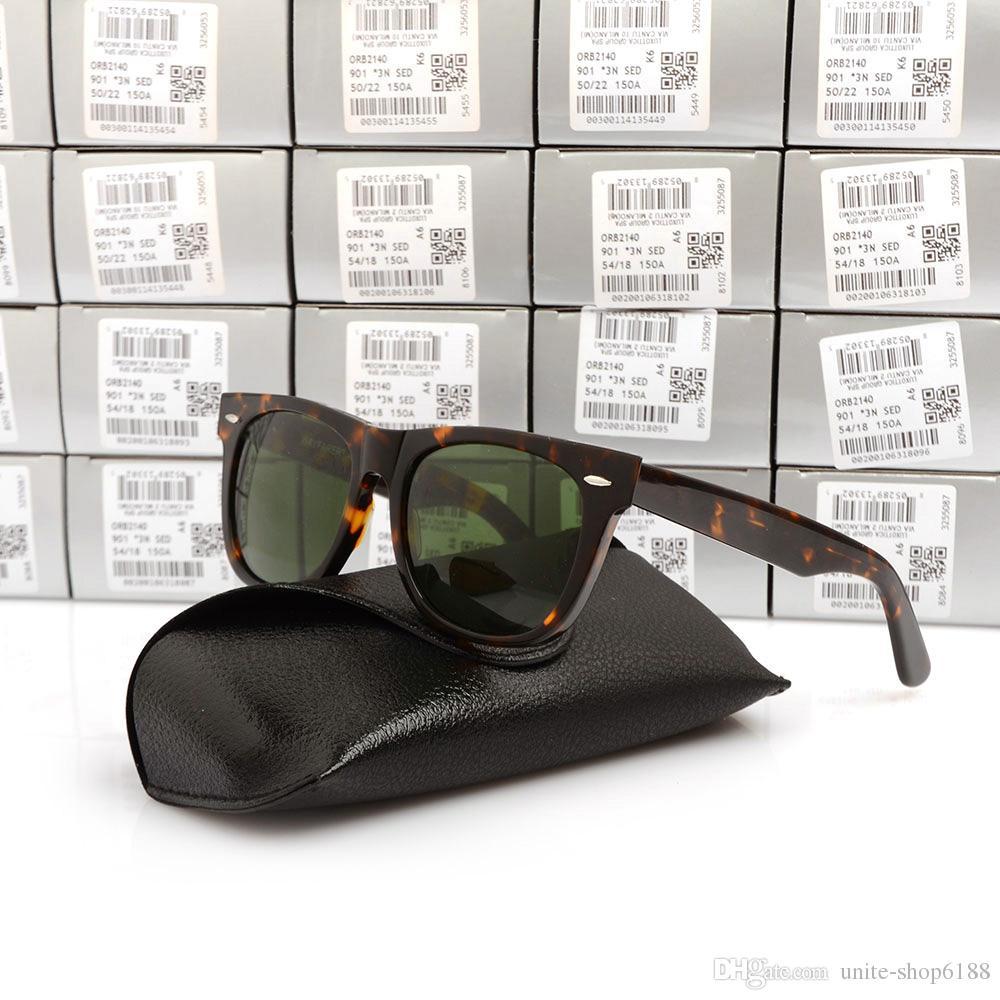 High Quality Plank Sun glasses Tortoise Frame Green Lens Metal hinge Sunglasses Mens Womens Sunglasses New unisex Sun glasses Glass Lens
