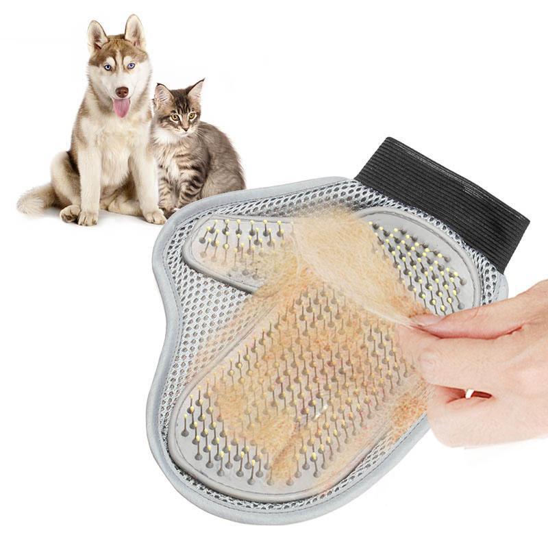 Compre Pet Cat Hair Brush Glove Para Gatos Peluqueria Cepillo De