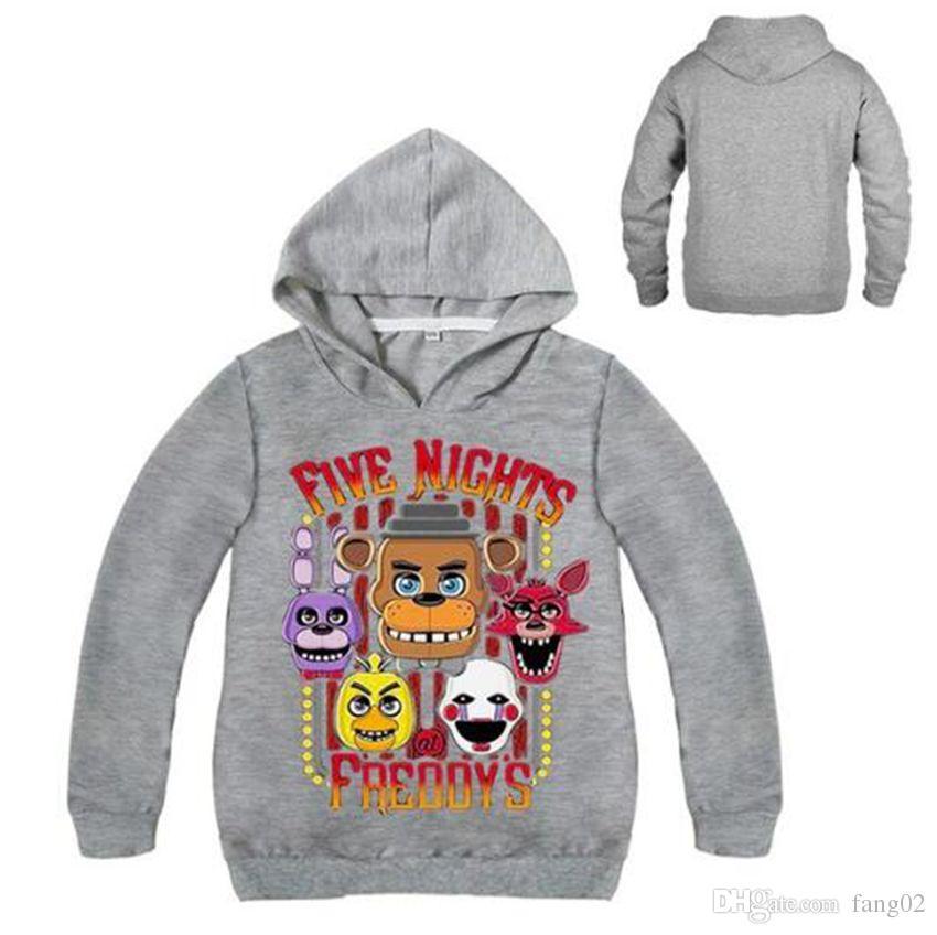 Compre Camiseta Fnaf Para Niños Cinco Noches En Freddy Sudaderas Con  Capucha Ropa De Manga Larga Para Niños Camiseta Para Niños Camiseta Para  Niños Sudadera ... e1ab7feb2c5f8