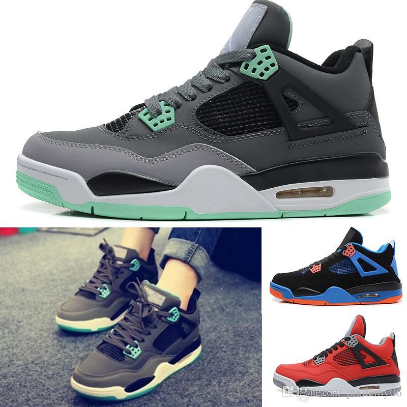 premium selection 48be7 4cd6b Acheter Nike Air Jordan Retro 4 2018 4 Chaussures De Basket Ball Pure Money Hommes  4s BRED Royalty Blanc Sneakers Sportif Sportif Sports De Plein Air ...