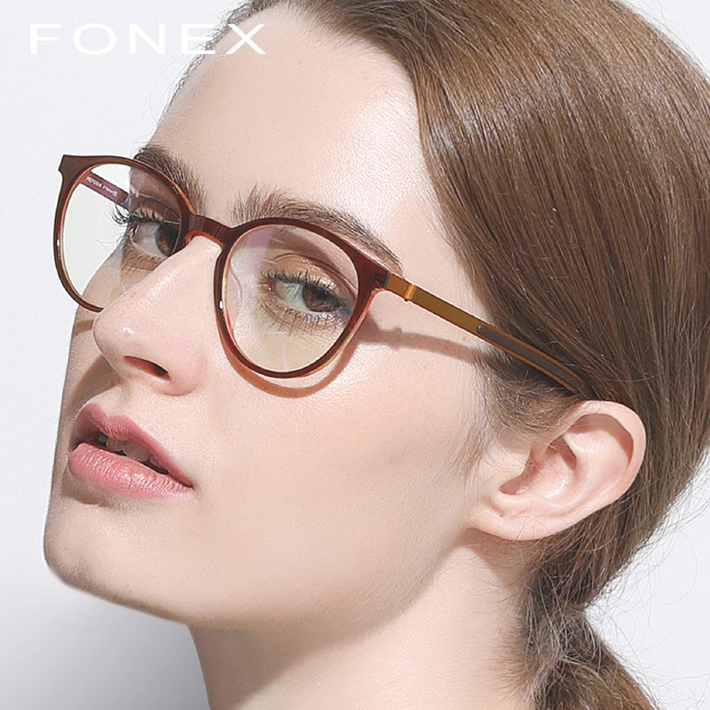 c20ac951e16 2019 B Pure Titanium Glasses Frame Men Women Acetate 2018 New Vintage Round  Myopia Optical Prescription Eyeglasses Screwless Eyewear From  Fashionable16