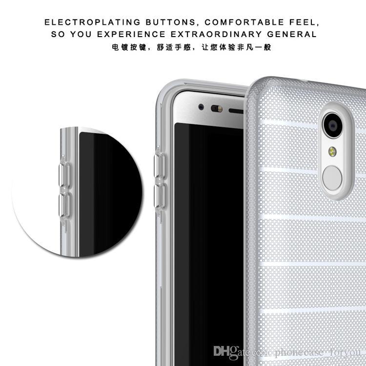Híbrido de Silicone Duro + TPU Cobre Para LG Stylo 3 plus / k20 plus / Aristo 2 lg Stylo 4 k10 2018 Slim Armor Case