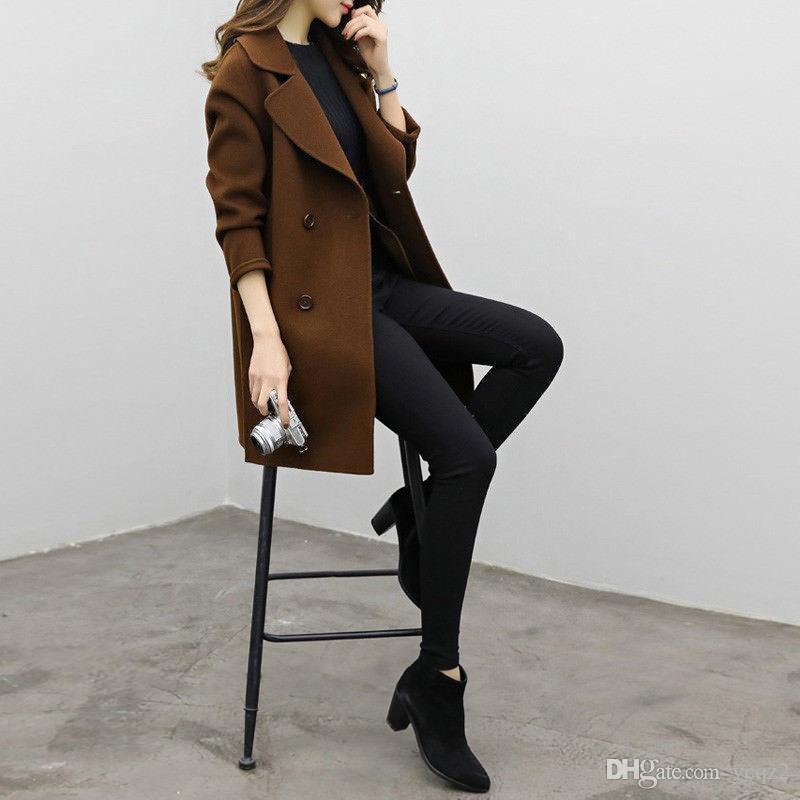 5bc74190e436 Acheter 2018 Automne Nouvelle Haute Marque De Mode Femme Classique Double  Breasted Trench Coat Imperméable Imperméable D affaires De  22.12 Du Ycqz2  ...