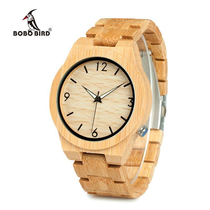 ba47e05f42c7 Compre BOBO BIRD Reloj De Madera De Bambú Casual Relojes De Pulsera De  Movimiento Japonés Correa De Madera De Bambú Relojes De Cuarzo Reloj Para  Hombres A ...