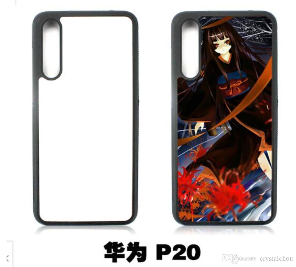 official photos 38731 45bd3 2D Sublimation Rubber TPU pc Back cover case for Huawei mate 10 9 honor 10  P20 P20 Lite p10 p9 p8 With plates and glue free shipping 100pcs